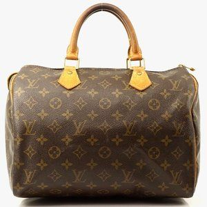 Auth Louis Vuitton Speedy 30 Brown Bag #3620L18